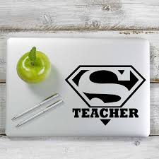 Super Teacher Superman Inspired Decal Sticker For Car Window Laptop A Yoonek Graphics