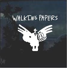 Walking Papers Band Window Decal Sticker Custom Sticker Shop