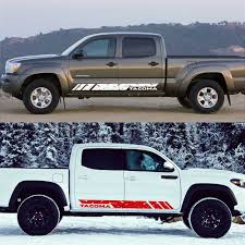 2pcs Car Door Side Skirt Stripe Stickers For Toyota Tacoma Auto Both Side Decor Graphic Vinyl Decals Racing Exterior Accessories Car Stickers Aliexpress
