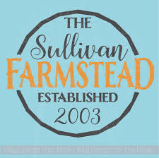 Farmstead Est Family Name Custom Vinyl Letters Wall Decals For Home Decor