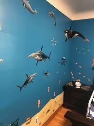 Ocean Mural Kids Peel And Stick Undersea Wall Mural Ocean Mural Ocean Themed Bedroom Ocean Kids Room