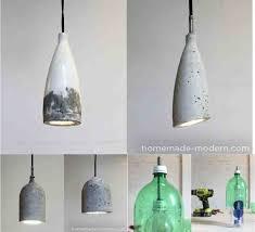 sleek diy concrete pendant lamp for 10