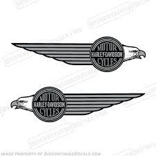 Harley Davidson Fat Boy Fxef Fuel Tank Motorcycle Decals Set Of 2 1985