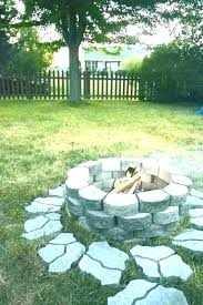 fire pit for small backyard designs