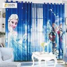 Dihin Home 3d Printed Elegant Frozen Blackout Curtains Window Curtains Grommet Curtain For Living Room 39x102 Cool Curtains Kids Curtains Kids Room Curtains