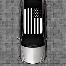 Amazon Com Sign Factory R54 Black American Flag Roof Wrap Decal Decals Wraps Vinyl Wraps Art Poster Image Carbon Hood Car Truck Fiber Hood Automotive