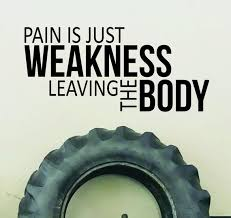 Pain Is Just Weakness Leaving The Body Gym Wall Decal Gym Etsy