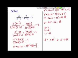 equations advanced algebraic fractions