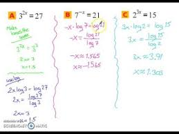 logarithmic equations inequalities