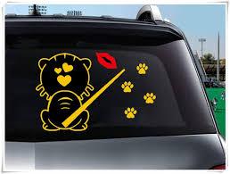 Amazon Com Rear Window Cat Back Car Stickers Rain Wipes Lips Cat Stickers Shaking Tail Rain Wiper Stickers Reflective Stickers Home Improvement