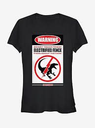 Official Jurassic World Warning Electrified Fence Sign