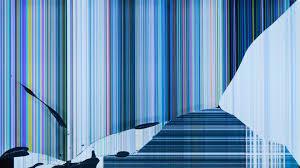 screen wallpaper art blue broken hd