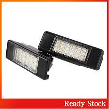 Bộ 2 đèn LED chiếu sáng biển số xe hơi Citroen C3 18 bóng bền