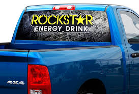 Product Rockstar Energy Drink Rear Window Decal Sticker Pick Up Truck Suv Car 2