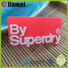 badge silicone rubber pvc garment labels