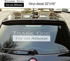 Thank God I M Atheist Window Decal Removable Car Truck Vinyl Sticker Graphics Ebay