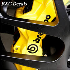 Amazon Com R G High Temp Brembo Brake Caliper Decals Sticker Set Of 4 Black Everything Else