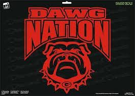 Georgia Bulldogs Dawg Nation Vinyl Decal Uga Car Truck Window Sticker New Ebay