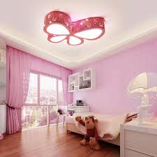 ceiling light pink erfly shape child