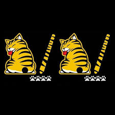 Funny Cat Car Sticker Decal For Rear Wiper Wiggle Tail Wooridoori