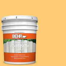 Behr 5 Gal 310b 5 Spiced Butternut Solid Color House And Fence Exterior Wood Stain 01105 The Home Depot