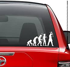 Amazon Com Theory Of Evolution Street Artist Paint Vinyl Decal Sticker Car Truck Vehicle Bumper Window Wall Decor Helmet Motorcycle And More Size 5 Inch 13 Cm Wide Color Gloss