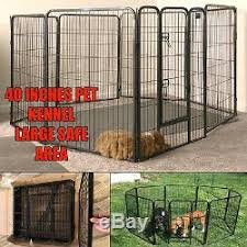 Pen Dog Kennel Extra Large 40 Inches Tall Exercise Playpen With Gate 8 Panels