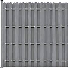 Vidaxl Wpc Fence Panel With 1 Post 180x180cm Square Grey Garden Edge Board Amazon Co Uk Kitchen Home