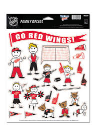 Detroit Red Wings 8 5x11 Family Pack Auto Decal White 5710697