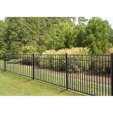 4 5 Ft H X 7 Ft W Handy Andy Metal Fence Panel Andy Fence Handy Metal Panel In 2020 Metal Fence Panels Vinyl Fence Panels Aluminum Fence