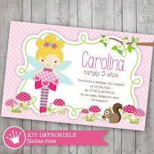 Kit Imprimible Hadas Haditas Invitacion Cumpleanos Candy Bar