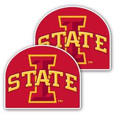 Iowa State University Window Decal Set Of 2 I State