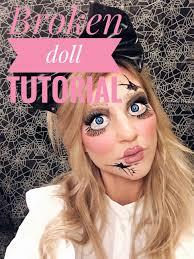halloween makeup broken doll tutorial