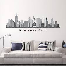 Wall Decal Skyline New York City Ny