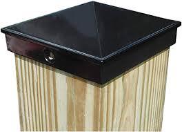 4x4 Fence Post Cap 3 1 2 Single Pack Black Powder Coated Aluminum Mailbox Lamp Post Deck Dock Piling Caps Amazon Com