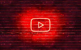 تحميل خلفيات يوتيوب الشعار الأحمر 4k الأحمر Brickwall شعار