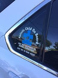 Amazon Com Autism Medical Alert Vinyl Car Window Decal Everything Else