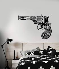 Vinyl Wall Decal Vintage Revolver Gun Lady S Pistol Weapons Stickers Wallstickers4you