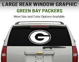 Green Bay Packers Window Decal Graphic Sticker Car Truck Suv Choose Size Ebay