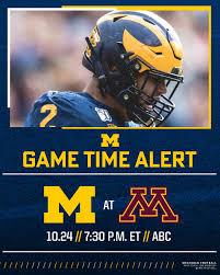 Michigan Football - 🚨 GAME TIME ALERT ...