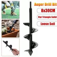 8cm Earth Auger Drill Bit Fence Borer Flat Triangle Solid Gasoline Drill Bits For Garden Post Hole Digger Tool Lazada Ph