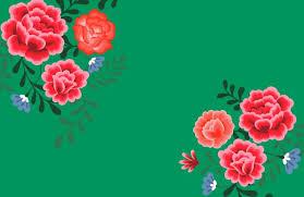 green frida kahlo flower wallpaper