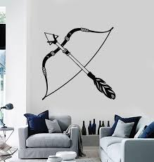 Vinyl Wall Decal Arrows Bow Feathers Ethnic Style Art Decoration Stick Wallstickers4you