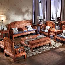 chinese clical solid wood sofa