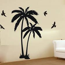Amazon Com Colorfulhall 23 6 X 47 2 Wall Decor Decal Murals Wall Paper Sticker Large Palm Coconut Tree Branch Flying Birds Art Baby