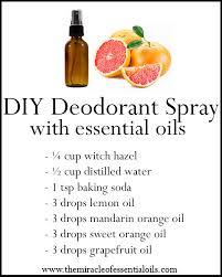 essential oil deodorant spray recipe