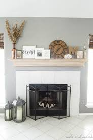 diy mantel update with crown molding