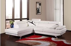 white corner and chaise leather sofa