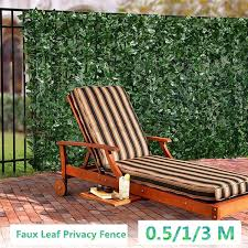 3 Size Faux Leaf Privacy Fence Artificial Hedge Leaves 0 5 1 3 M Faux Ivy Leaf Shop Wall Decor Artificial Grass For Wedding Decor Wish
