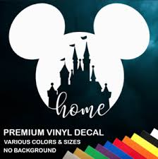 Walt Disney World Home Vinyl Window Sticker Decal Car Truck Many Colors Sizes Ebay